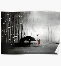 Little Red Riding Hood ~ I love You  Poster