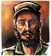 Brush Paint Fidel Poster