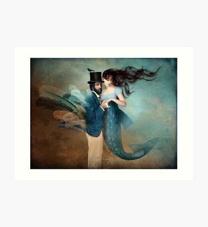 A Mermaids Love Art Print