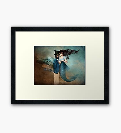 A Mermaids Love Framed Print