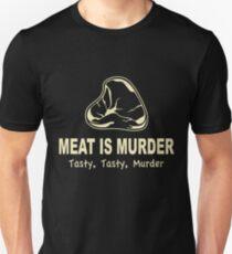 Meat Is Murder Tasty Tasty Murder Unisex T-Shirt