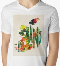 Ireland Typographic Watercolor Map T-Shirt