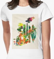 Ireland Typographic Watercolor Map T-Shirt