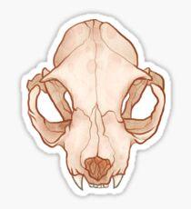 TWO Plain Skull Sticker