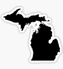 Michigan Black Sticker