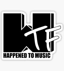 WTF Happened To Music Solid Sticker