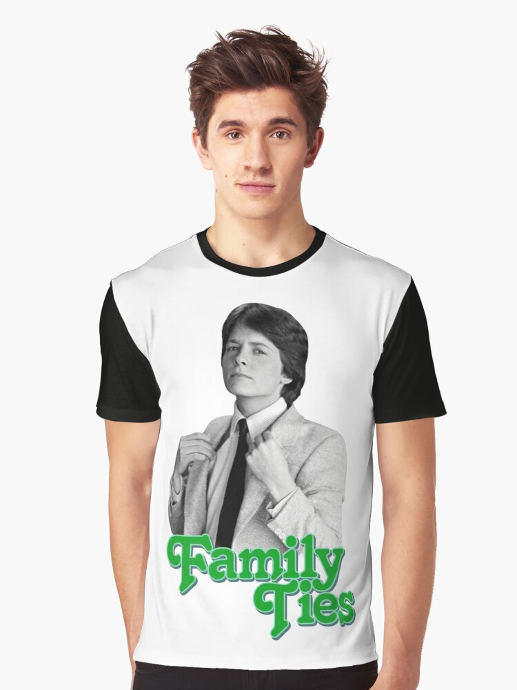 Michael J Fox - Family Ties Graphic T-Shirt Front