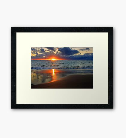 Sunset At Point Peron  Framed Print