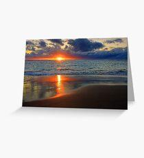 Sunset At Point Peron  Greeting Card