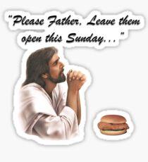 Jesus Chick-fil-a Sticker