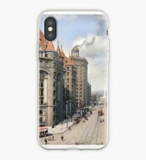 Niagara Street, Buffalo, 1908 iPhone Case