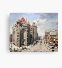 Niagara Street, Buffalo, 1908 Canvas Print