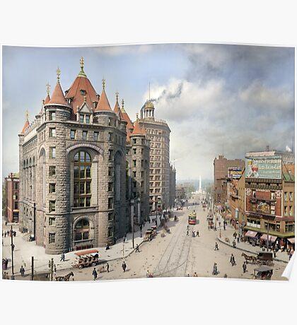 Niagara Street, Buffalo, 1908 Poster