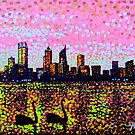 Golden Skyline Perth by Alan Hogan