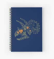 Analogous Colors Calligram Triceratops Skull Spiral Notebook