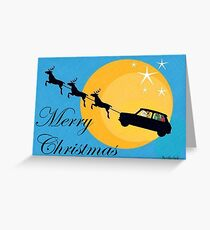 Mini Santa's new sleigh Greeting Card