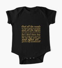 "Oasis... ""Wonderwall"" Song Lyric One Piece - Short Sleeve"