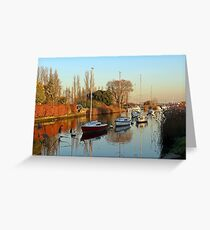 The river Frome in November. Greeting Card