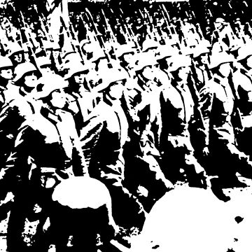 German Soldiers Marching by Cyberpanzer