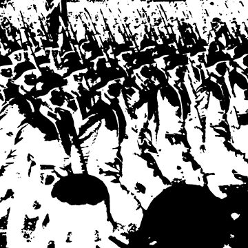 German Soldiers Marching Black by Cyberpanzer