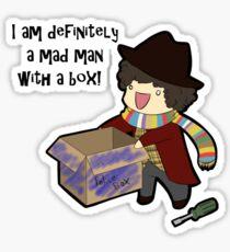 Mad Man With a Box Sticker