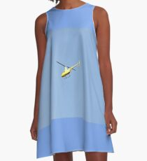 Yellow R44 Helicopter A-Line Dress