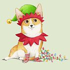 Christmas Corgi by Katie Corrigan