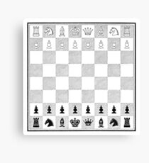 Victorian Chess Board Canvas Print