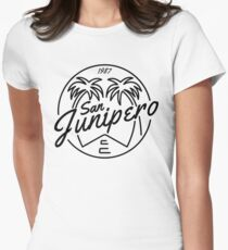 Black Mirror San Junipero Light Womens Fitted T-Shirt