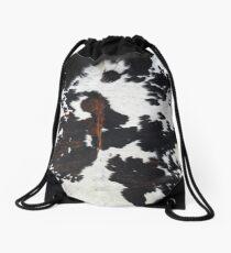 Cowhide Drawstring Bag