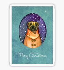 Christmas  Dog Sticker