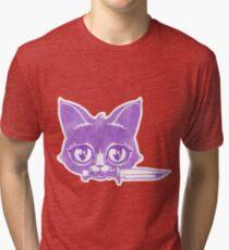Killer Kitten -Purple Version Tri-blend T-Shirt