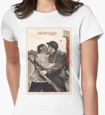 Soviet Propaganda - Liberation of the Whole Earth (1939) Women's Fitted T-Shirt