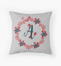 Scandinavian Monogram A Throw Pillow