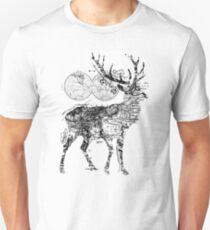 Deer Wanderlust Black and White Unisex T-Shirt