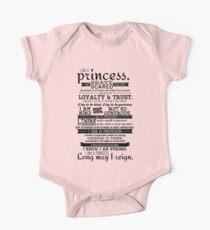 I Am a Princess Baby Body Kurzarm