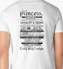 I Am a Princess Mens V-Neck T-Shirt