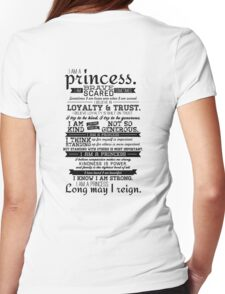 I Am a Princess Womens Fitted T-Shirt