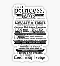 I Am a Princess Sticker