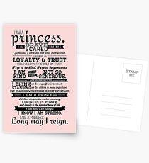 I Am a Princess Postcards