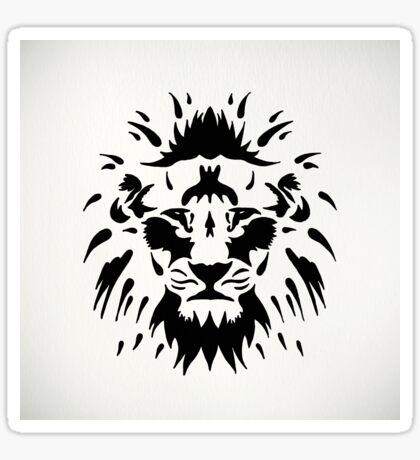 Tribal Lion Sticker