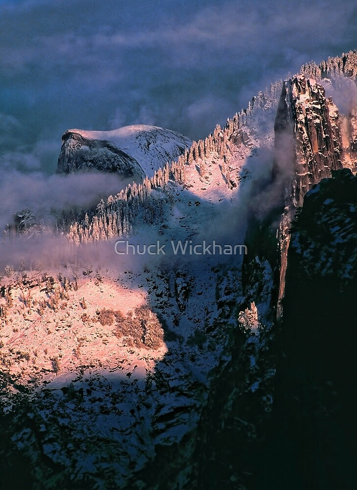 HALFDOME AND CATHEDRAL SPIRE by Chuck Wickham