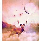Deer auf dem Feld von kijkopdeklok