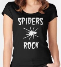 Spider Funny Women's Fitted Scoop T-Shirt