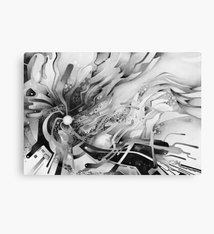 Axion of Evil - Watercolor Painting B&W Canvas Print