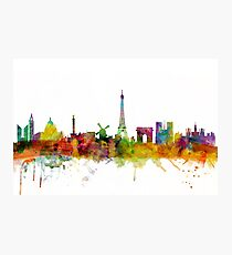 Paris France Skyline Cityscape Photographic Print