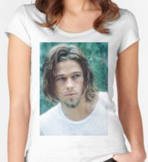 brad pitt true romance  Women's Fitted Scoop T-Shirt