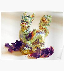 Friendly dragon Poster