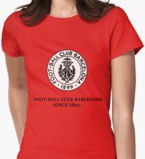 Football Barcelona Barça Vintage Womens Fitted T-Shirt