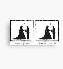 Just Married Canvas Print